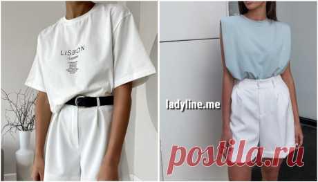 Шорты и футболка: 10+ удобных и практичных идей | Женский канал о моде