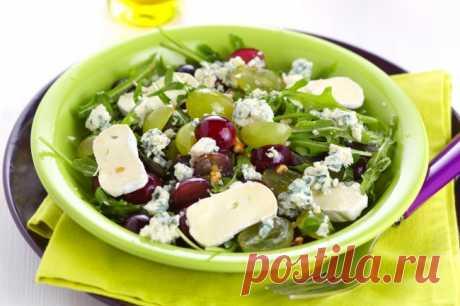 Салат из винограда и сыра | О вкусной еде
