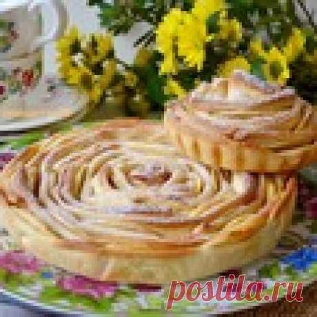 """Яблочный пирог """"Чайная роза"""" - кулинарный рецепт"""