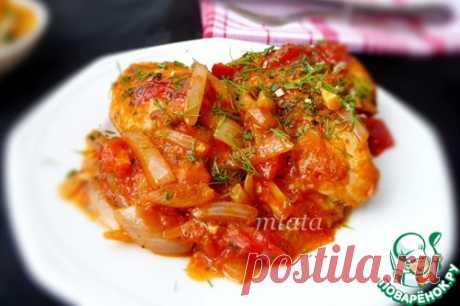 Курица в томатном соусе с луком – кулинарный рецепт