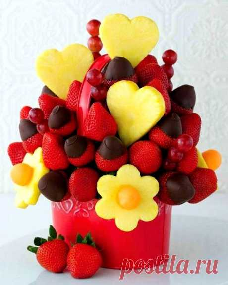 Изготовление букетов из фруктов своими руками