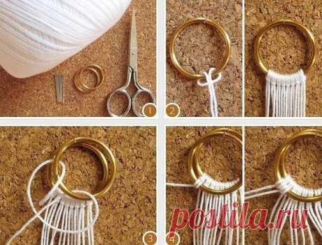 Плетём оригинальный браслетик или поясок в технике макраме