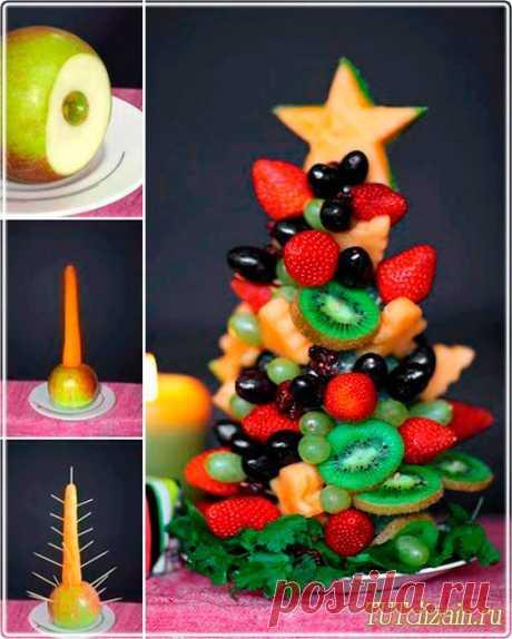 ёлочка из фруктов