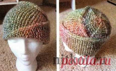 Эффектная шапка спицами » Ниткой - вязаные вещи для вашего дома, вязание крючком, вязание спицами, схемы вязания