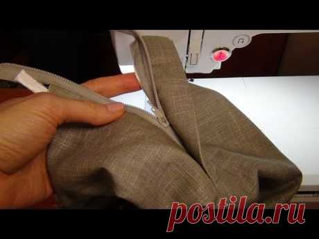 Как сшить брюки: застёжка