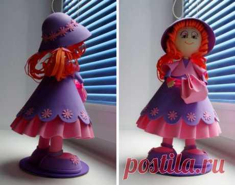 Куклы из фоамирана своими руками, 3 пошаговых мастер-класса