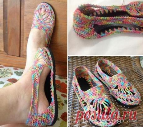 Ажурные туфельки: мастер-класс и схема