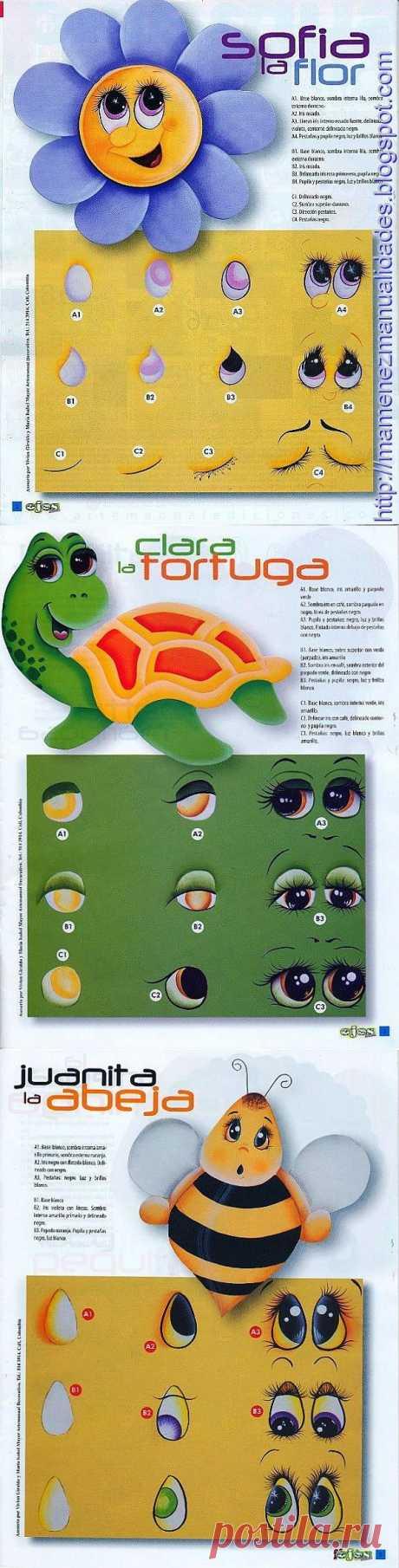 Подробные фото, как нарисовать глазки и лица куклам и зверюшкам - Ярмарка Мастеров - ручная работа, handmade