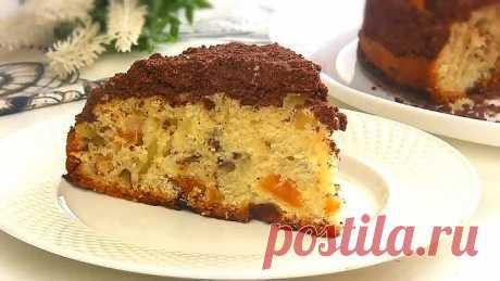 Пирог на кефире с шоколадной крошкой! Простой и Быстрый Пирог к Чаю
