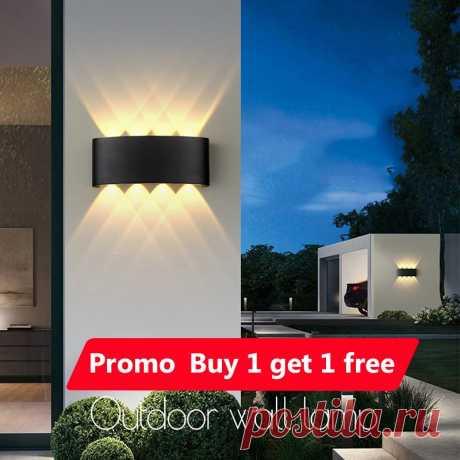 1266.01руб. 10% СКИДКА Светодиодные настенные лампы, IP65 водонепроницаемый уличный и комнатный светильник, алюминиевый настенный светильник для дома, гостиной, спальни светодиодный Светодиодный светильник для сада, крыльца Настенные лампы      АлиЭкспресс Покупай умнее, живи веселее! Aliexpress.com
