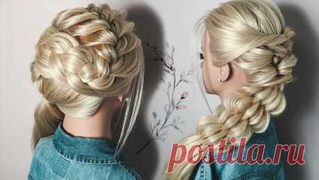 ВИДЕО. 3 Красивые Прически на Длинные Волосы