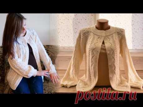 Французская кофточка спицами (часть 3) 👚 French jacket knitting pattern 🇲🇫