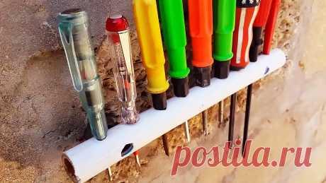 Что можно сделать из обрезков ПВХ труб? 5 полезных идей Оставшиеся после ремонта обрезки пластиковых труб можно не выбрасывать, а применить с пользой. Из них легко наделать различных приспособлений, начиная от пылесборника для сверления, и заканчивая подставками для настенного хранения инструмента. Пластиковые трубы не ржавеют и не гниют, так что