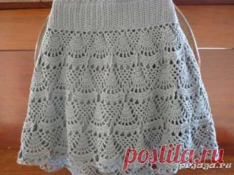 Ажурная юбка крючком | Mom's Page