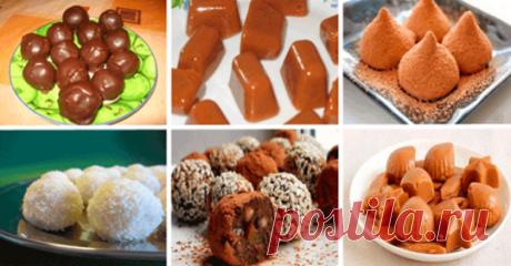 ТОП-6 рецептов домашних конфет Читать далее...