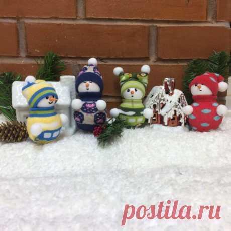 Изготовление новогодней игрушки «Снеговик» за час — Поделки с детьми