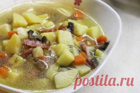 Пряный суп с кореньями и грибами - рецепт с фото пошагово