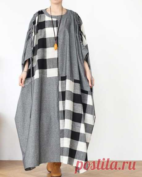 Women Cotton Maxi dress, oversized long sleeves dress, womens dreses, Women long robe 【Fabric】  Cotton 【Color】 gray 【Size】  Shoulder width is not limited Shoulder + Sleeve 62cm / 24 Bust 248cm / 96 Clothing length 119cm / 46  Have any questions please contact me and I will be happy to help you.