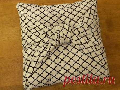 Оригинальная наволочка для подушки из цельного куска ткани — DIYIdeas
