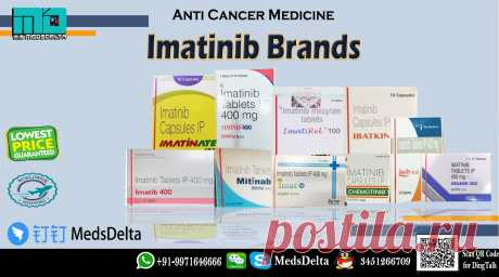 Buy now Imatinib Capsules or Tablet Brand from MedsDelta at wholesale price. Gleevec alternatives including Imain, Levin, Chemotinib, Ibatkin, Imatirel, Imat, Mitinab, Timinib, Imatib, Imatinate and Veenat 100mg and 400mg available at MedsDelta Supplier and Exporter of Generic and branded cancer medication worldwide. Phone +91-9971646666 and QQ: 3451266709 for order now and get low cost generic imatinib at your doorstep anywhere in the world including countries Austria, Bahrain, Bangladesh,