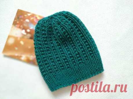 Вяжем шапку спицами красивым узором » «Хомяк55» - всё о вязании спицами и крючком