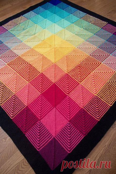 Очень простой в вязании - диагональный квадрат, а какие шикарные вещи из него получаются. Описание и примеры вязки.   Юлия Жданова   Яндекс Дзен