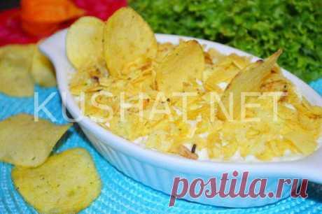 Салат «Парус» с чипсами. Пошаговый рецепт с фото • Кушать нет