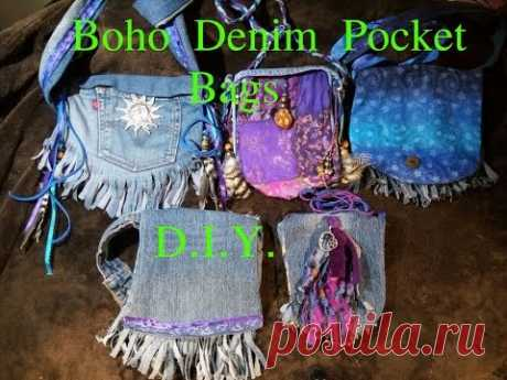 DIY-Boho/Hippie Denim Pocket Bags