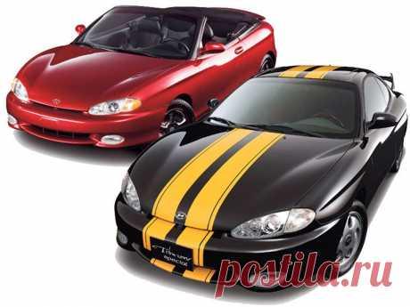 Две машины красный и черный