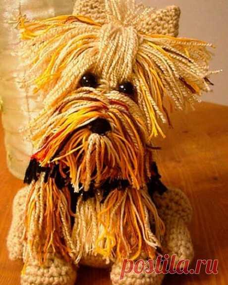 Описание вязания игрушки в ретростиле (собачка) | Нескучное рукоделие | Яндекс Дзен