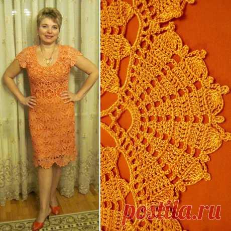 Платье крючком - Шелест каштановых листьев - Lilia Vignan