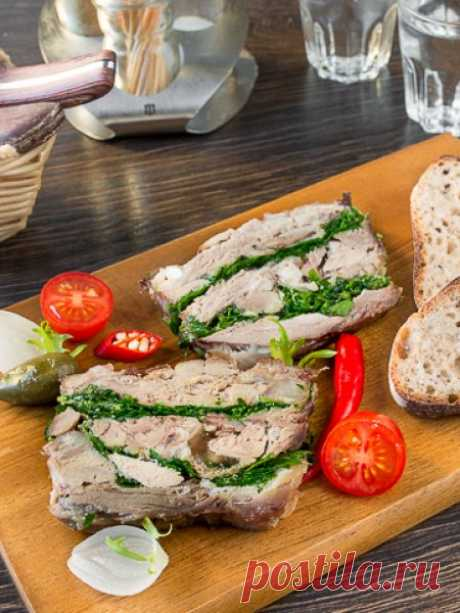 Рецепт террина из свиной рульки на Вкусном Блоге