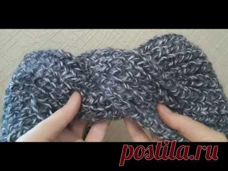 МК по вязанию повязки с открытым наборным краем для незаметного сшивания к моему связанному платью