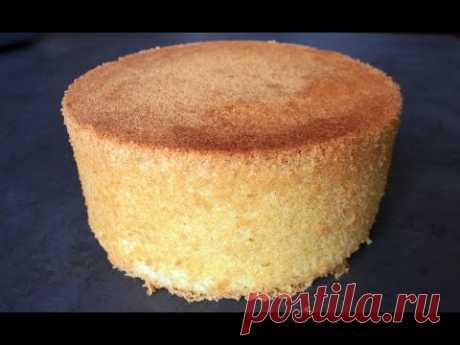 Бисквит на кипятке / Очень сочный бисквит для торта