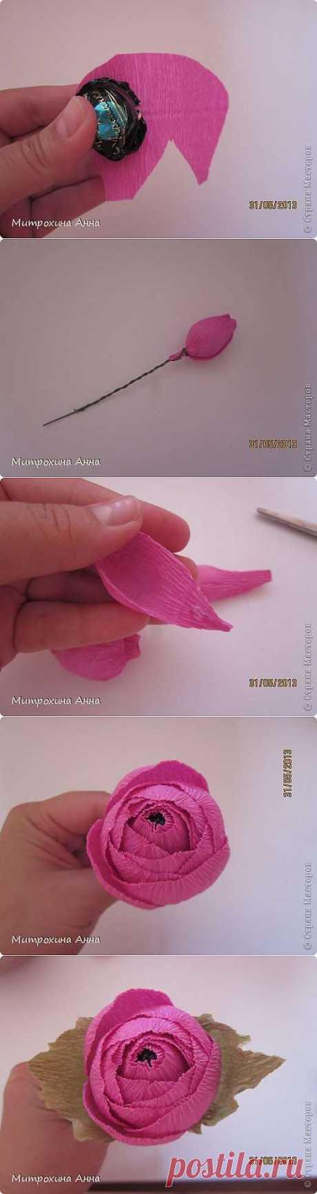 Как сделать английскую розу из гофрированной бумаги -
