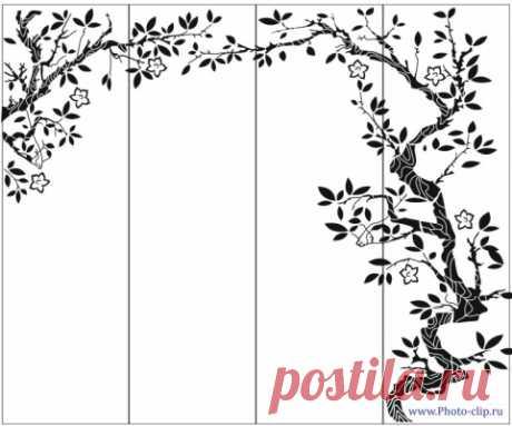 Пескоструйный рисунок дерева №200