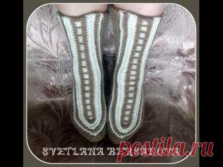 Интересное вязание - носки-исландцы