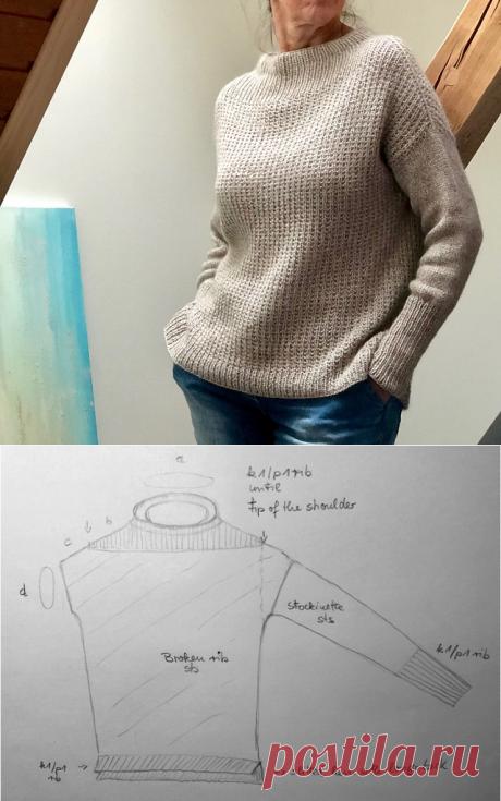 Стильный женский свитер оверсайз