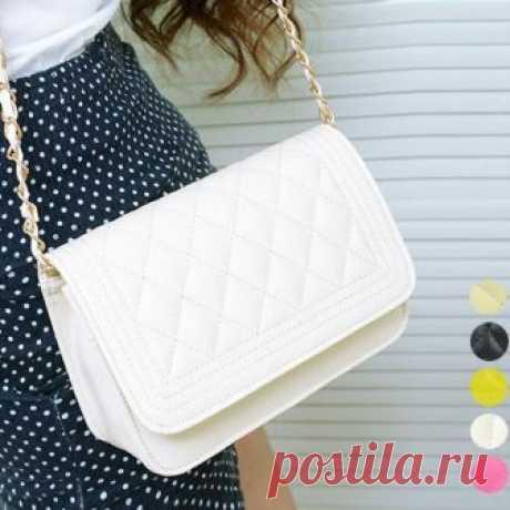 """Мода женская сумочка корейских женщин выстегивать цепи сумка через плечо 7_S 100% Brand New  . Материал: искусственная кожа доступна   5 цвет: черный, белый, красный цвет Роза, флуоресцентный желтый, бежевый   Размер: 20 х 7,5 х 13,5 см (Д х Ш х В) (приблизительно)   ремешок длина: 113cm / 44.3 \ """"  Тип: сумка / сумка на плечо / крест тела   Pattern: мода   Случай: открытый   сумки как девушка необходимым связать в украшения, модные течения, возлюбленный были самые разные ..."""