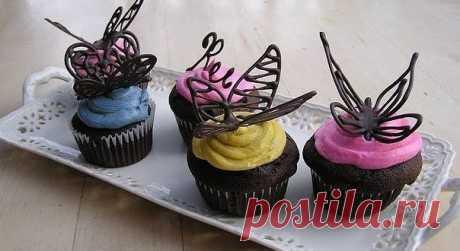 Мастер-класс: шоколадные бабочки - Женские записки Все видели украшенные десерты в топовых ресторанах ? А хотите, чтоб ваши десерты не отличались от ни