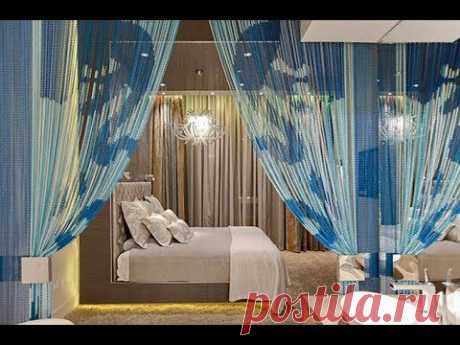 Стильные шторы в спальне реальные фото из польских домов