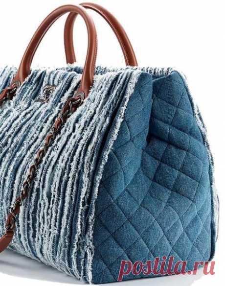 Стильные и оригинальные сумочки из джинсов. Подборка идей
