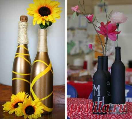 Креативные идей для использования стеклянных бутылок после праздников