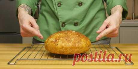 Ремесленный хлеб, который я пеку каждый день. Без замеса и хлебопечки всего за 5 минут (не считая выпечки)
