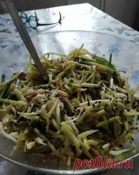 Летний салат по-корейски   Вилка.Ложка. Палочки   Яндекс Дзен