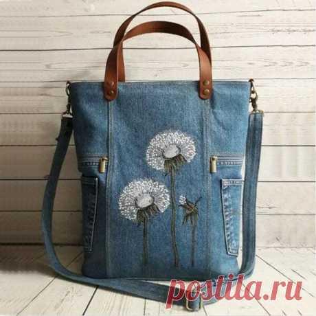 Flower Print Canvas Handbag Shoulder Bag – TWOADDEN