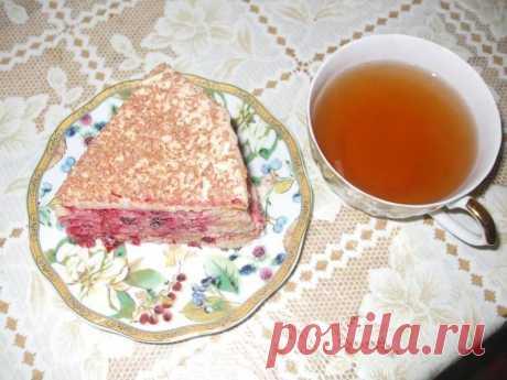 Домашний клюквенный торт с клюквой рецепт с фото пошагово - 1000.menu