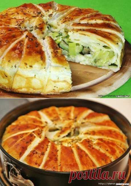"""Сочный овощной пирог """"Щедрый фермер""""."""