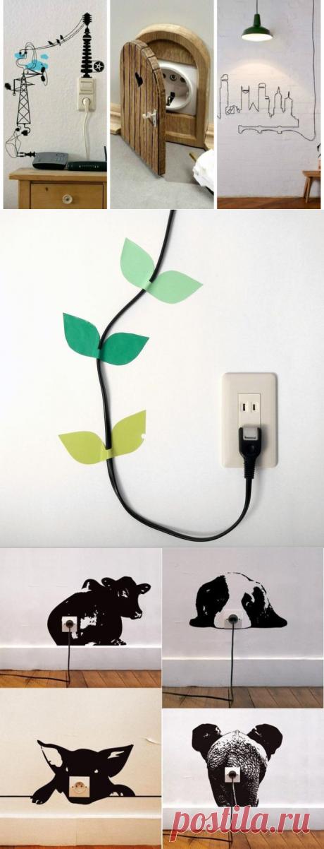 Оригинальные способы замаскировать электропровода и розетки — Мой дом