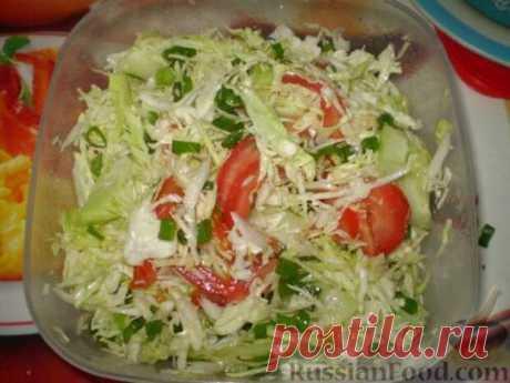 Салаты из белокочанной капусты